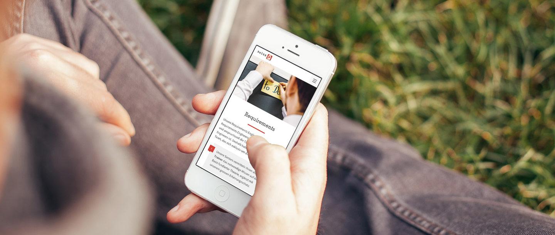 SwissQ Corporate Website Responsive Smartphone