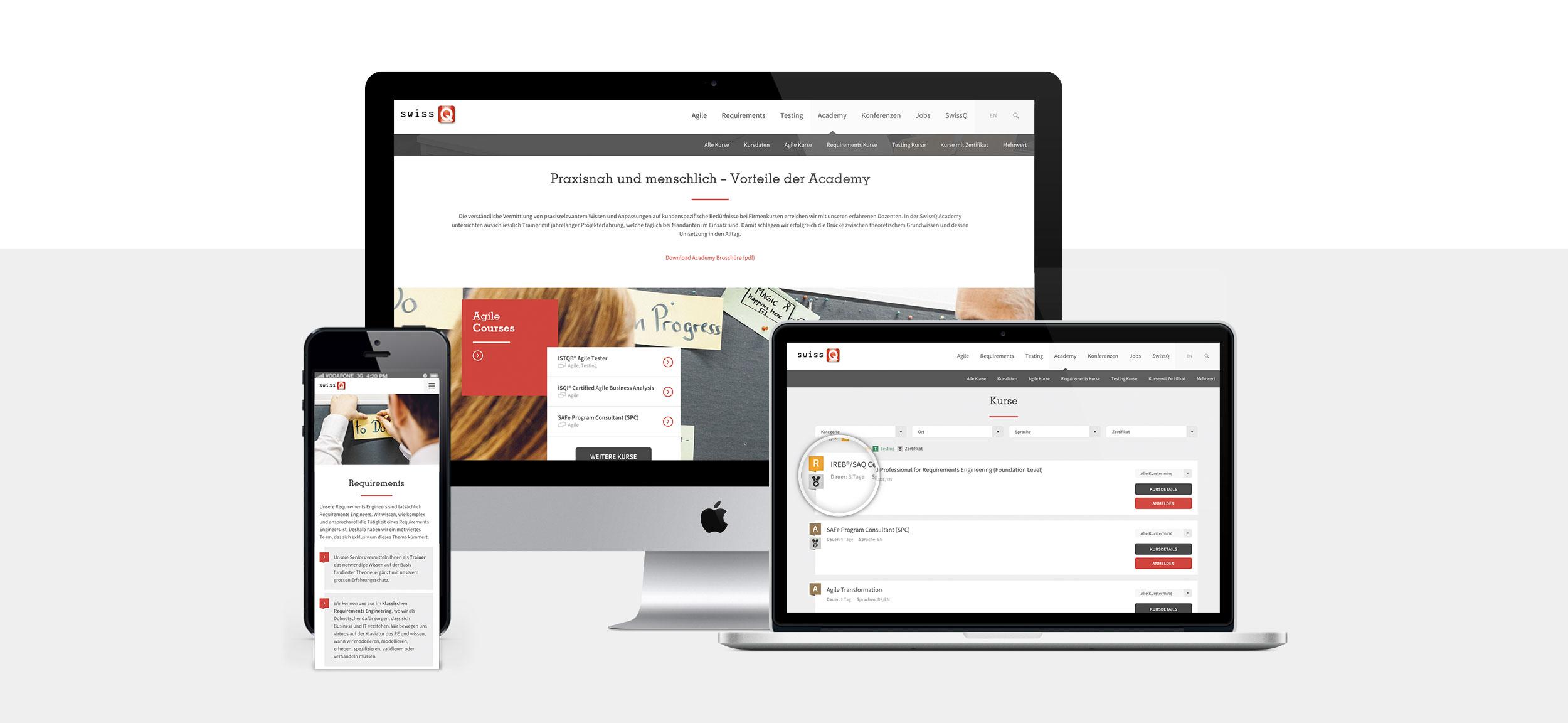 SwissQ Coporate Website UX Design Mockup