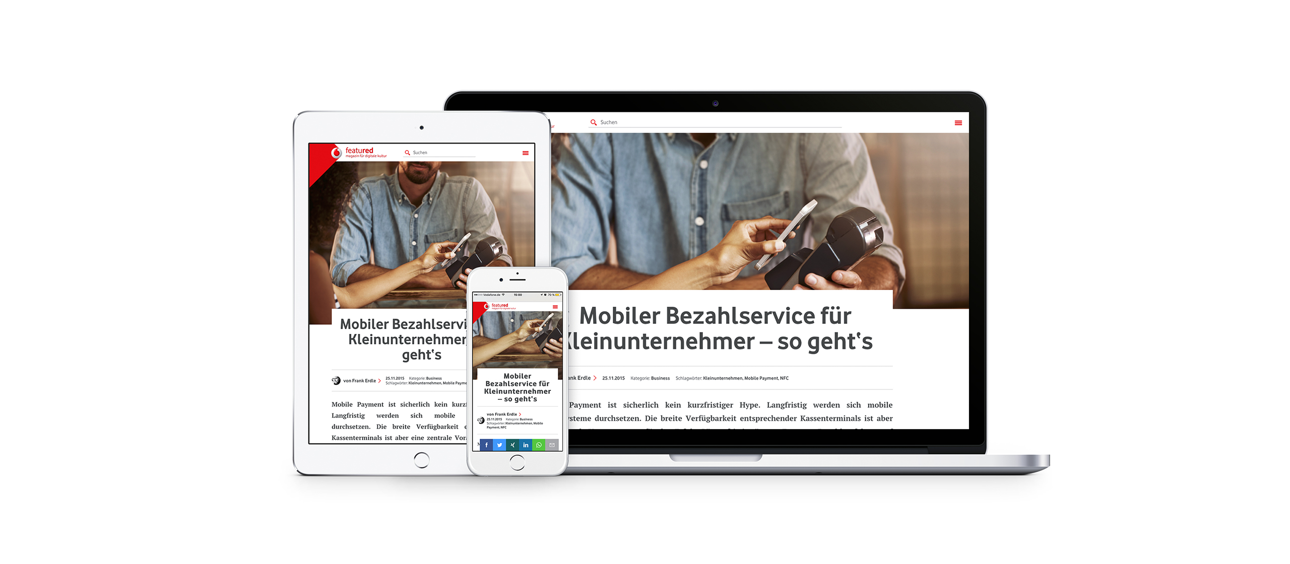 Vodafone Corporate Blog responsive