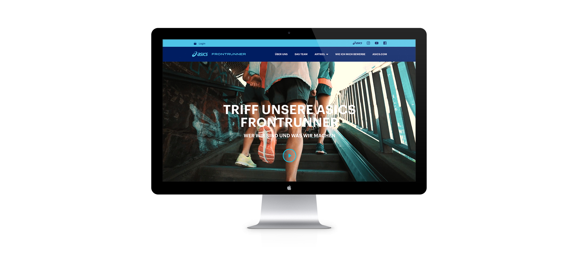 ASICS FrontRunner - Start screen - iMac