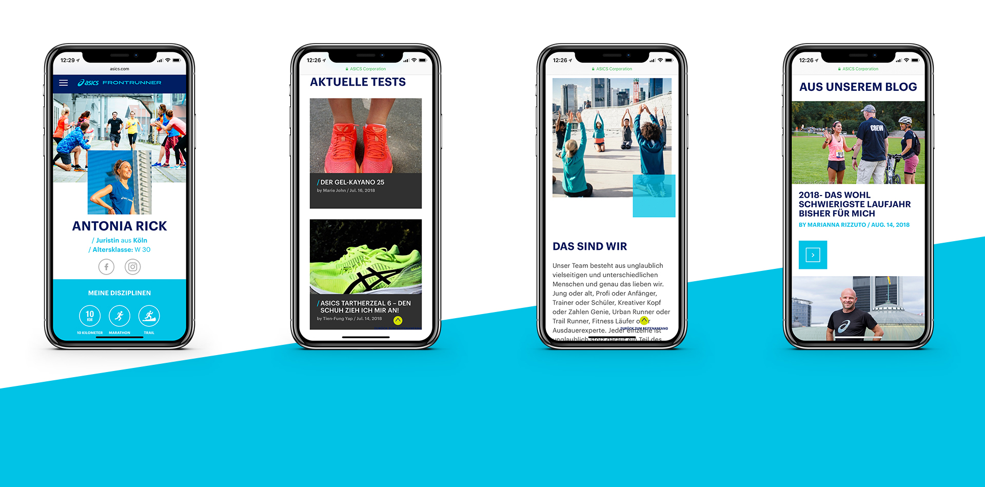 ASICS FrontRunner - Mobile mood screens